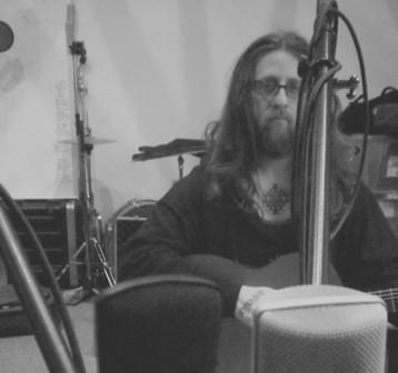 Mike S. recording at Witch Ape Studio
